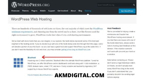 'Official' WordPress.org Recommended Host