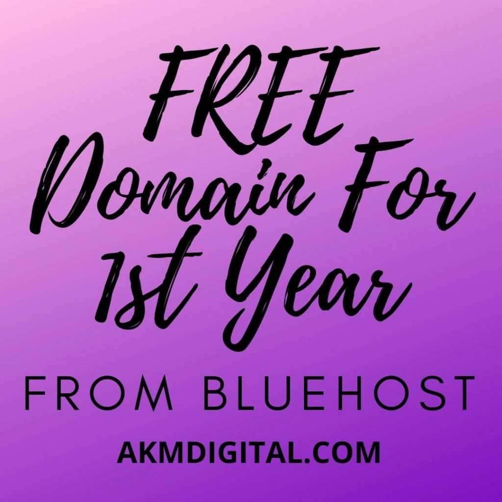 Free Domain For Beginners bluehost - akmdigital.com