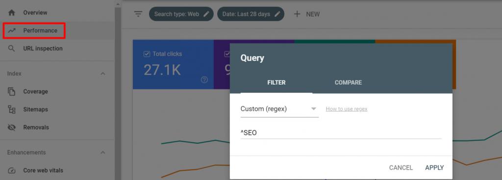 Regex in Google  Search Console