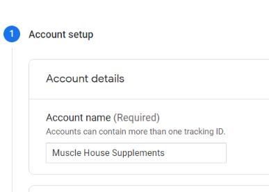 Account Setup in Google Analytics